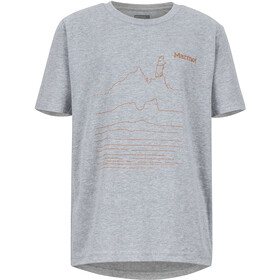 Marmot Purview SS Tee Boys dark grey heather